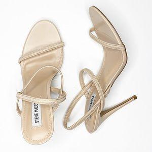 STEVE MADDEN gabriella strappy nude heeled sandal